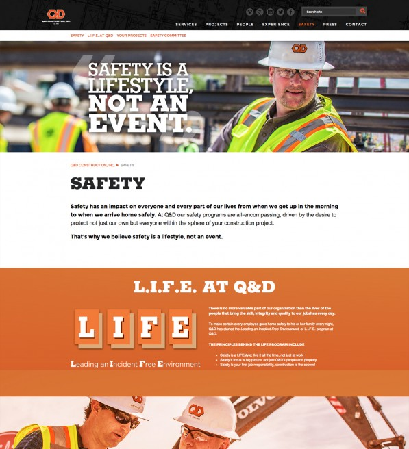 Q&D Construction – Responsive Website